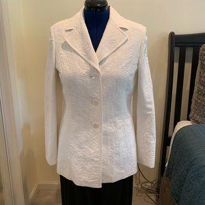 Gorgeous Ann Taylor Ivory Brocade Button Jacket